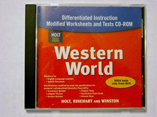 Workbook differentiated instruction worksheets : Amazon.com: Holt Social Studies: Western World: and Tests CD-ROM ...