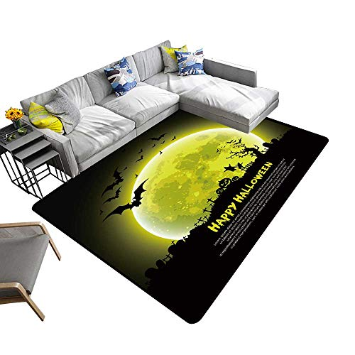 Abstract Design Area Rug Happy Halloween Message Design Background,Vector Add Fashion to Room's Decor 5' X -