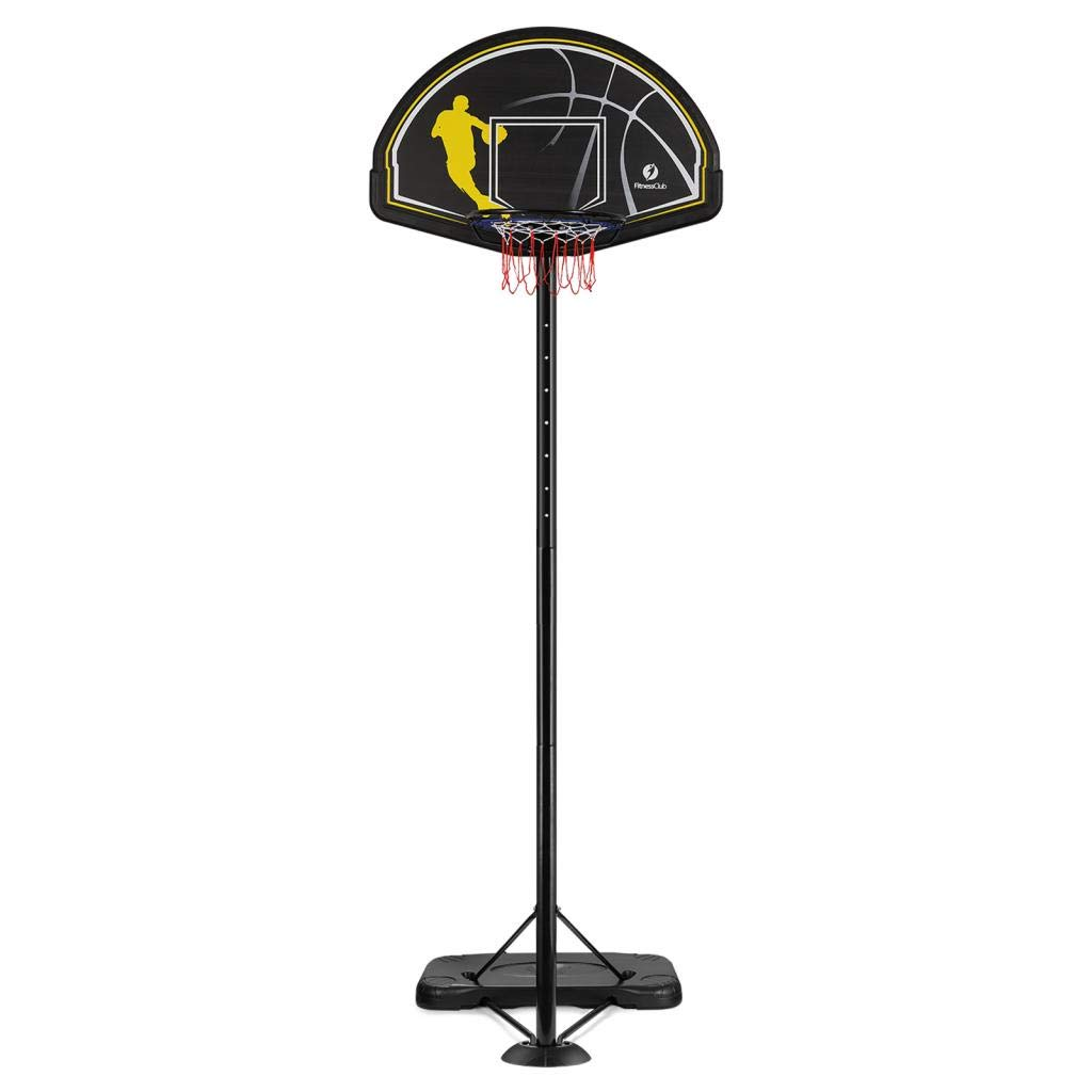 Fitnessclub Portable Adjustable Basketball Hoop Stand