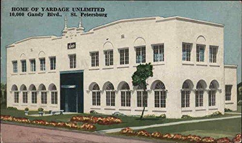home-of-yardage-unlimited-st-petersburg-florida-original-vintage-postcard