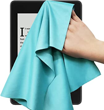 Wisdompro Extra Large 4-Pack Microfiber Cleaning Cloth For Laptop Glass Blue Camera Lens Tablet Monitor Computer Screen Lenses iPhone Phone other Delicate Surface iPad LCD TV 16x16 Inch