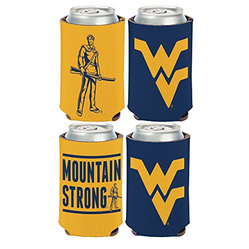 WinCraft NCAA West Virginia WVU Mountaineers 2 Pack 12 oz. 2-Sided Can ()