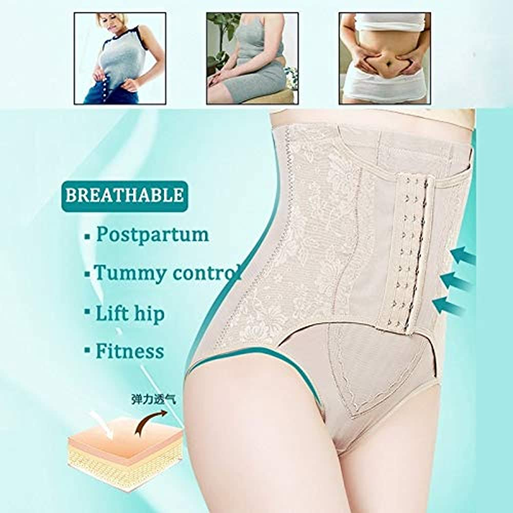 YZDISPLAY Seamless Waist Training Underwear High Waist Tummy Control Postpartum Body Shaping Briefs Boyshorts
