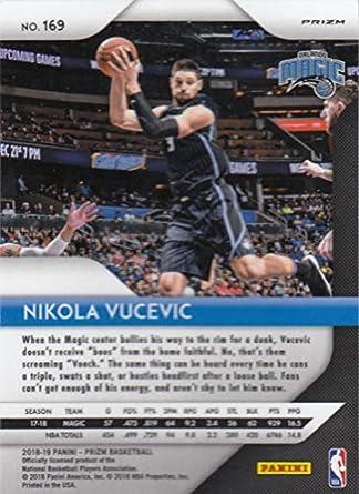 Amazon.com: 2018-19 Panini Prizm SILVER Refractor #169 Nikola Vucevic Orlando Magic Official NBA Basketball Trading Card: Collectibles & Fine Art