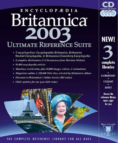 Encyclopedia Britannica 2003 Ultimate Reference Suite
