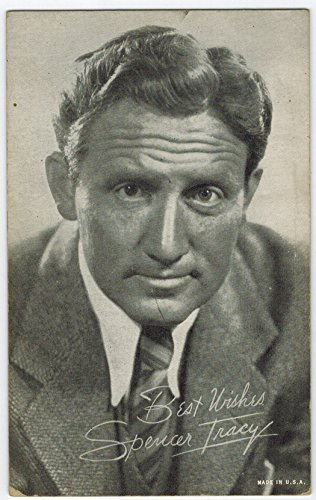 Exhibit Spencer Tracy Arcade Card: BW 1940s (13mm MADE IN U.S.A.) Series
