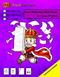 Royal Elements Waterslide Decal Paper Laser Clear 20 Sheets Premium Water-Slide Transfer Transparent Printable Water Slide Decals A4 Size