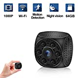 Mini Hidden Spy Camera, Ruidla Wireless Wifi Camera 1080P HD with Night Vision Motion Detection Nanny Cam Home Office Security Surveillance Camera