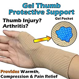 Gel Compression Gloves,2 Pair Ideal Hand Wrist Support Provide Arthritis Relief From Thumb Joint Pain