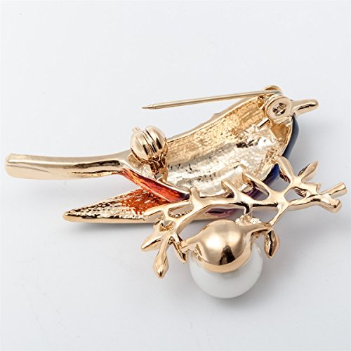 Szxc Jewelry Bird Collection Custom Accessories Wedding Brooches Pin Jewelry Gifts Women Teen by Szxc Jewelry (Image #1)