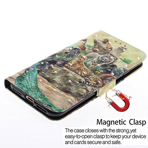 Cas Chreey Etui 3D iPhone Motif Effet X T de Coque Portefeuille 7xwPC8r7q