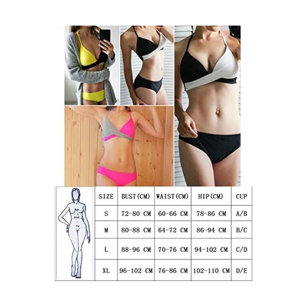 JFAN Donna Costume da Bagno Push Up Imbottito Reggiseno Bikini Donna Due Pezzi Swimwear Abiti da Spiaggia 6 spesavip