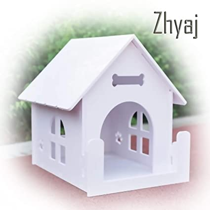 Zhyaj Caseta Perros Exterior Nido De Gato Ventilación Respirable Al Aire Libre Perro Villa Verano Mascota