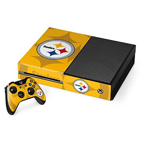 Skinit NFL Pittsburgh Steelers Xbox One Console and Controller Bundle Skin - Pittsburgh Steelers Double Vision Design - Ultra Thin, Lightweight Vinyl Decal Protection