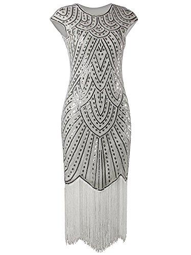 Vijiv Dresses Beaded Nouveau Flapper
