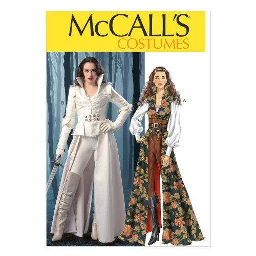 Mccalls Renaissance Costume Patterns (McCall Pattern Company M6819 Misses' Costumes Sewing Template, Size E5 (14-16-18-20-22))
