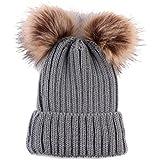 vestitiy Baby Baby Boys Girls Winter Warm Knit Hat Infant Toddler Kid Crochet Hat Beanie Cap