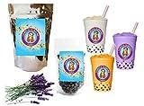 10+ Drinks Lavender Boba Tea Kit: Tea Powder, Tapioca Pearls & Straws By Buddha Bubbles Boba