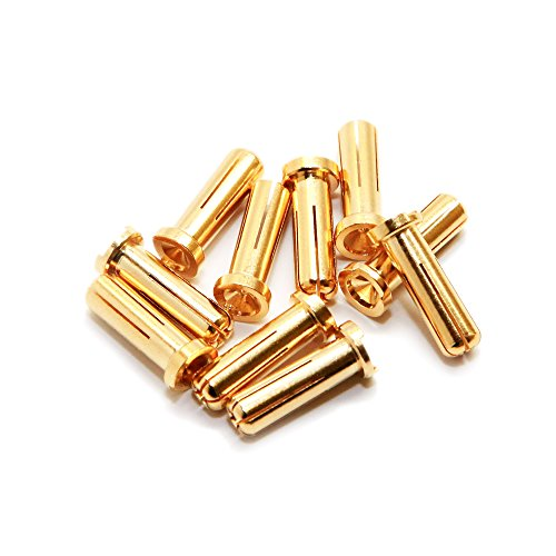 Maclan Max Current 5mm Gold Bullet Connectors (10) by Maclan Racing