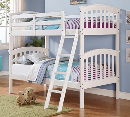 Donco Kids 123-3W Mission Bunk Bed, Full/Full, (Mission Youth Loft Bed)