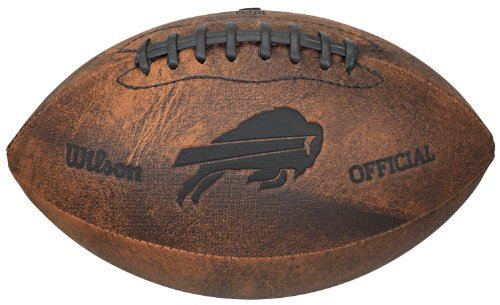 NFL Buffalo Bills Vintage Throwback Football, (Buffalo Bills Nfl Leather)