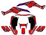 Senge Graphics 2001-2005 Honda TRX 250EX, Surge Red Graphics Kit