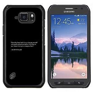 Jordan Colourful Shop - Jacob Braude For Samsung Galaxy S6 active/G870A/G890A (Not Fit S6) Personalizado negro cubierta de la caja de pl????stico