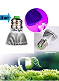 Trini lights 18 watt Led Grow Light,HIGH Yield full Spectrum hydropohincs E27 Growing Bulb,Garden Greenhouse Plants,Weed Marijuana