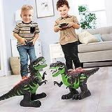 TEMI 8 Channels 2.4G Remote Control Dinosaur for Kids Boys Girls, Electronic RC Toys Educational Walking Tyrannosaurus Rex wi