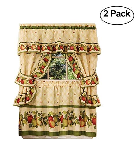 Achim Home Furnishings Apple Orchard Cottage Set, 36-Inch, Antique (Set of 2)