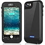iPhone 8/7/6s/6 Waterproof Battery Case QI Wireless Charging Compatible,Temdan 3000mAh Charging Case with Screen Protector Rechargeable Charger Case Extended Battery Case for iPhone 8/7/6s/6 (4.7inch)