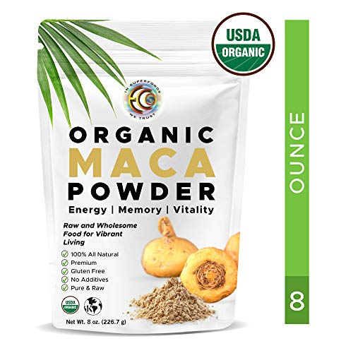 Earth Circle Organics - Organic Maca Root Powder, Natural Superfood, Helps with Energy, Hormone, Weight and Womens Fertility - USDA & Vegan Certified - 8oz(1 Pack)