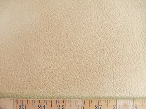 Richloom 10 Yard Lot Fabric Tough Faux Leather Pleather Vinyl Carver Cream RR32 by Richloom (Image #1)