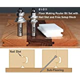 "Infinity Tools 61-511, 1/2"" Shank Floor Making Router Bit Set w/ Nail Slot"