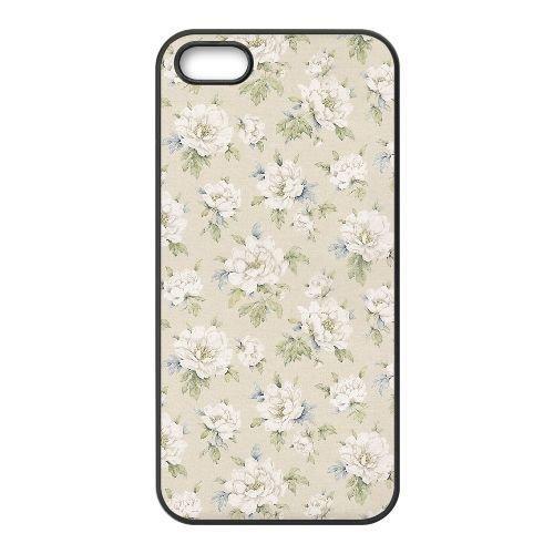 FDXGW617 iPhone 5 5s Cell Phone Case-black_Retro Flower (12)