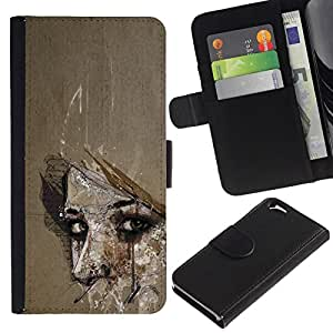 All Phone Most Case / Oferta Especial Cáscara Funda de cuero Monedero Cubierta de proteccion Caso / Wallet Case for Apple Iphone 6 // Meaning Woman Look Eyes Wonder