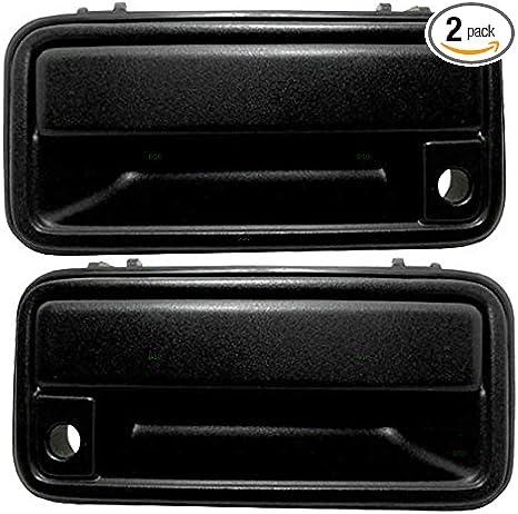 2pcs Black Front Exterior Outside Door Handle Pair Set for GMC K1500 K2500 K3500