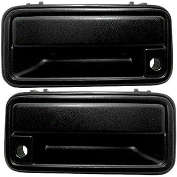 Front Outside Door Handle Black Pair Set Both Fits 95 98 Chevrolet Gmc Silverado