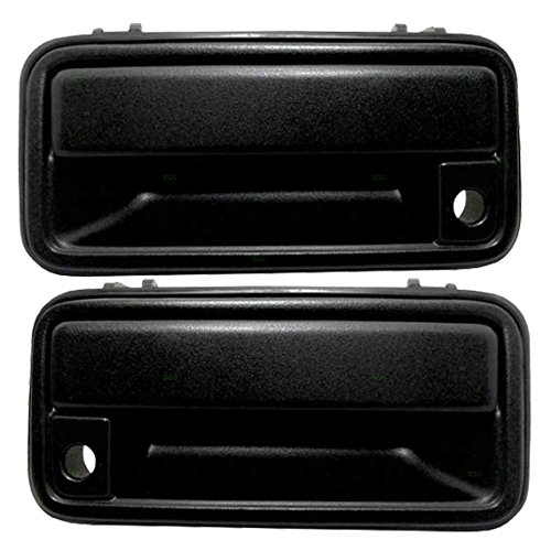 Chevrolet Door Handle - Outside Exterior Textured Door Handles Pair Set Front Replacement for 95-00 GM Pickup Truck SUV 15742229 15742230