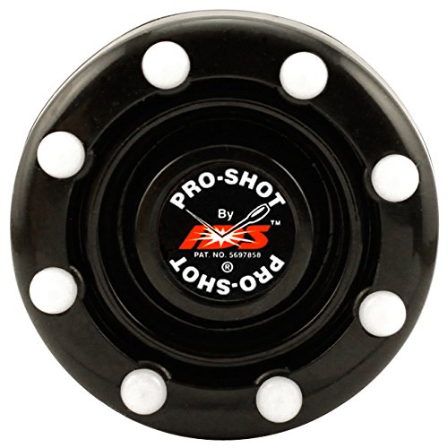 Line Pro Puck Hockey In - IDS Pro-Shot Puck - Official Roller Hockey Puck Of AAU USA & USA Roller Sports (Black)