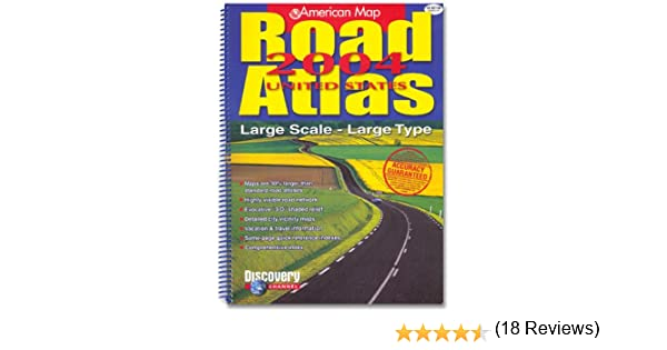 American Map Road Atlas Large Scale Type