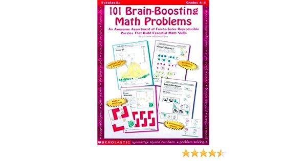 Workbook finding percent worksheets : Amazon.com: 101 Brain-Boosting Math Problems (Grades 4-8 ...