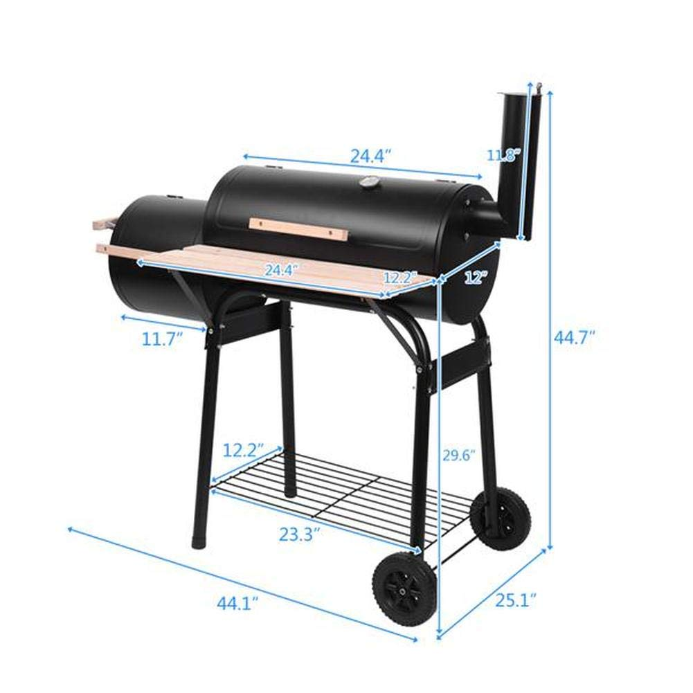 Amazon.com: Lovinland Charcoal Grill BBQ Grill with 2 ...