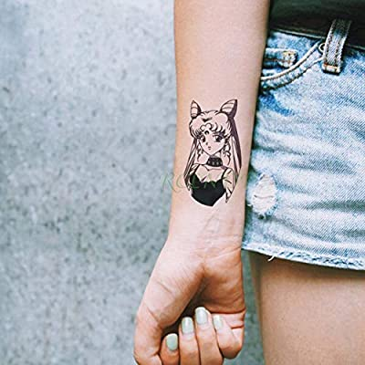 ljmljm 5 Piezas Impermeable Tatuaje Pegatina Flor roja Tatuaje ...