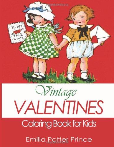 Vintage Valentines Coloring Book