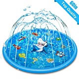 Sprinkle & Splash Play Inflatable Mat 59 in-Diameter Outdoor Sprinkler Pad Summer Fun Water Toys Squirt Pool for Babies Toddlers and Kids Best for Cooling Children in a Hot Summer