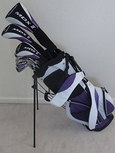 Tall Ladies Golf Set Custom Fit for Ladies 5ft-7in to 6ft-1in Tall Complete Driver, Fairway Wood, Hybrid, Irons, Putter, Clubs & Stand Bag 1 Womens Fairway Wood