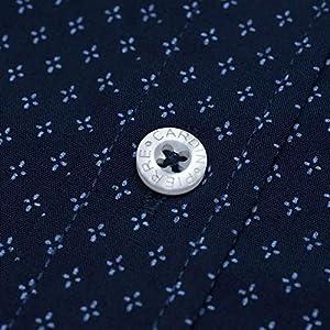 Pierre Cardin Uomo Camicia a Quadri o Stampata a Maniche Corte con Ricamo Esclusivo