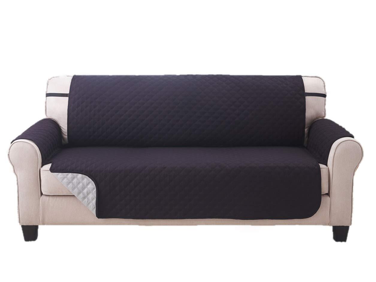 Deluxe Reversible Sofa Furniture Protector, Black / Grey - 75