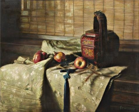 'Still Life with Fruits and a Basket on the Table' oil painting, 20x25 inch / 51x63 cm ,printed on high quality polyster Canvas ,this Imitations Art DecorativePrints on Canvas is perfectly suitalbe for Powder Room decoration and Home gallery art and Gifts